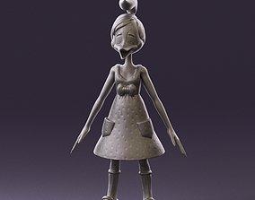Humanoid woman duck 0884 3D Print Ready miniatures