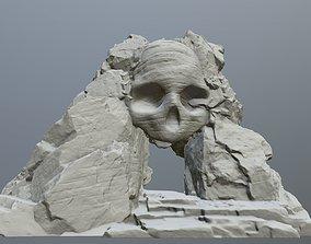 3D printable model skull cave games