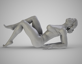 Woman Leaning Back on Elbows figure 3D print model