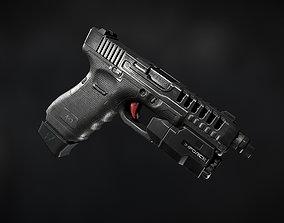 pbr Glock 17 3D model game-ready