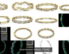 3D model bracelet Bangle Bracelets 7 Collection