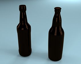 3D model kitchen Beer bottles