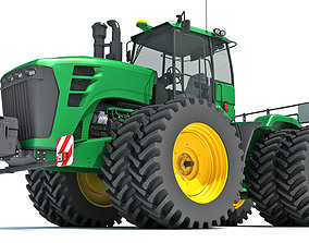 3D model Articulated Tractor