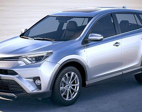 3D model Toyota Rav4 Hybrid EU 2017