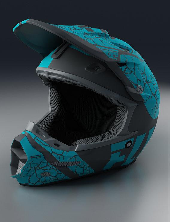 Moto Helmet Blue Render