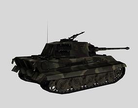 3D asset king tiger 2 heavy tank