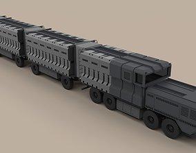 3D model DMC road train from movie Deadpool 2