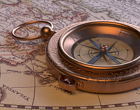 3D model Compass - East Indian Company Theme