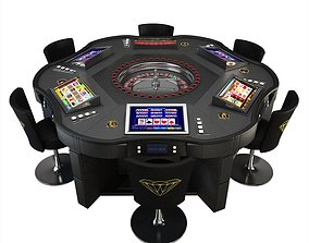 Game Table - Roulette Wheel Royal Crown 3D model