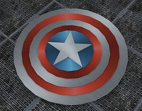 Captain Americas Shield 3D printable model
