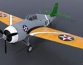GRUMMAN F4F-3 WILDCAT 41F4 3D model rigged