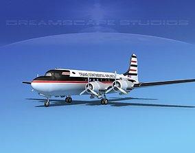 Douglas DC-4 Trans Continental 3D