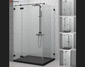 3D Cabin showers Radaway Essenza black