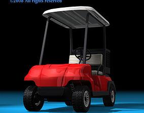 3D model Golf cart 2 seats