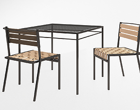 3D model Stephen Kenn Sk dining chair and Sk dining table