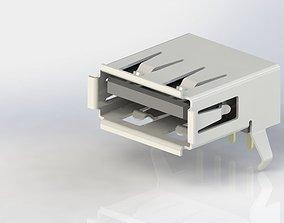 3D printable model USB A Female