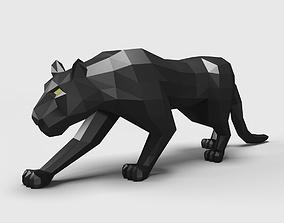 3D Panther Puma low poly