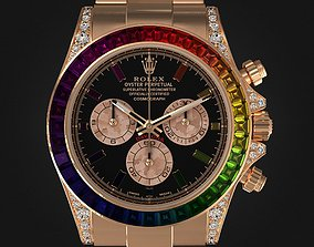 Rolex Daytona Rainbow Watch 3D
