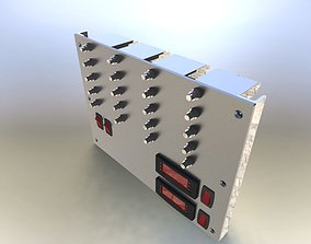 Dc sub breaker panel asm 3D
