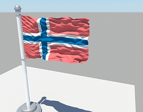 3D Norway flag