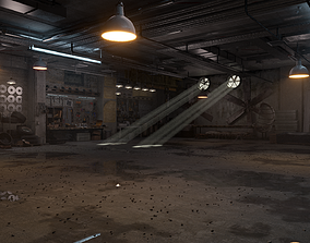 realtime GARAGE Interior 3D Model