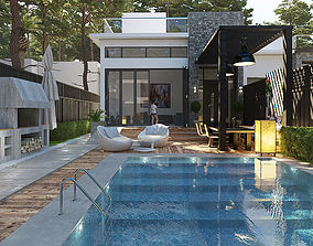 Private dual Villa 3D model