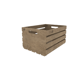 3D asset low-poly Wood crate