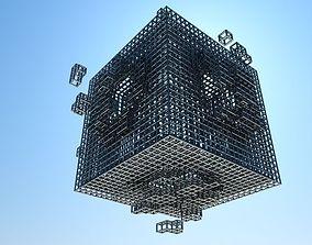 Cube explosion grid 3D model