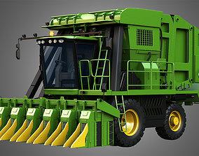 JD - 7760 Combine Harvester - Cotton Picker 3D varitron