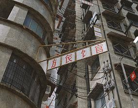 apocalypse Old building Hong Kong kowloon kitbash 3D