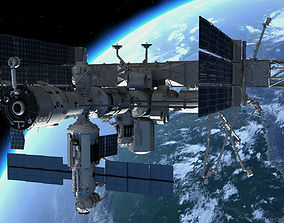 3D model PBR Game Ready ISS Space Station | CGTrader