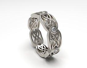Woman Celtic Band Ring 03 3D printable model
