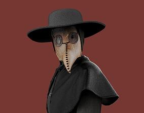 Plague doctor clothes 3D model