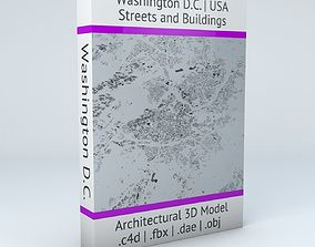 Washington DC Streets and Buildings 3D