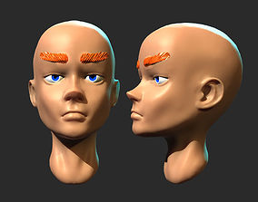 3D model Female Head - Sculptris Practice