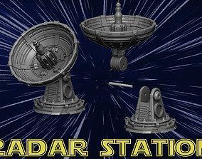 radar station 3D printable model