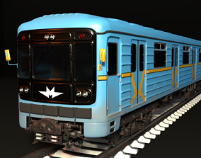 3D model Kyiv Subway train