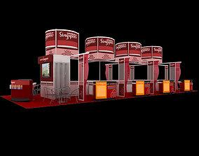 Uniquely Singapore Exhibition 6x15 Booth 3D