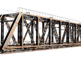 asphalt Railway bridge 3D model