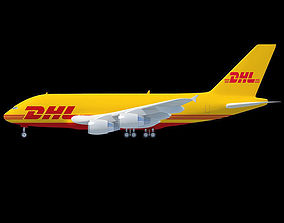 3D Model Airbus A380 of DHL Texture
