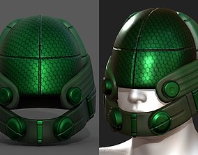 Helmet scifi military combat 3d model low poly game-ready