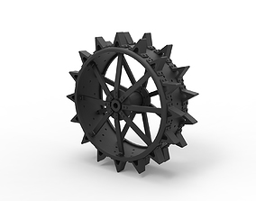 3D printable model Diecast Rear wheel from old tractor