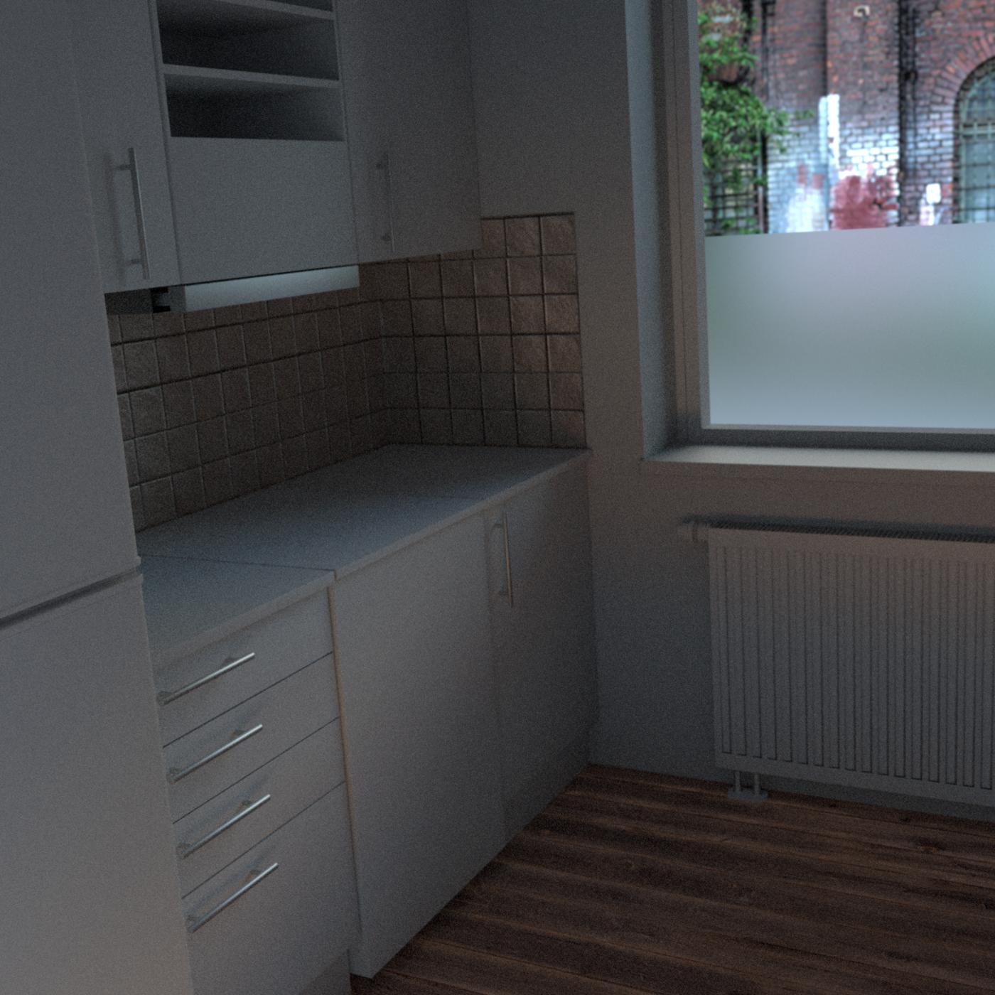 Small kitchen - progress renders