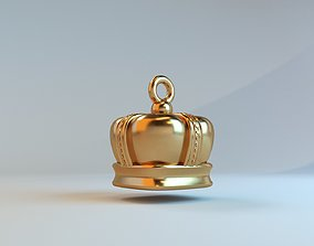 Crown pendant 3D print model