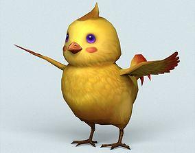 Fantasy Baby Bird 3D model game-ready