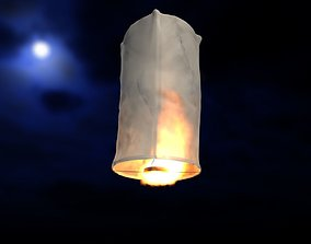Asian sky lantern 3D