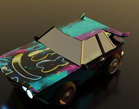 Sport Car Low Poly 3D asset
