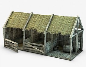 3D Wooden stable