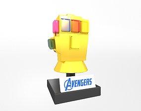 3D model game-ready Lego Infinity Gauntlet v2 004