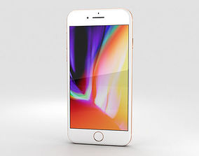 Apple iPhone 8 Gold 3D model ios